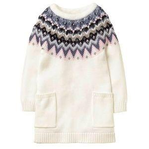 Gymboree Fairisle Sweater dress, Size XS 4